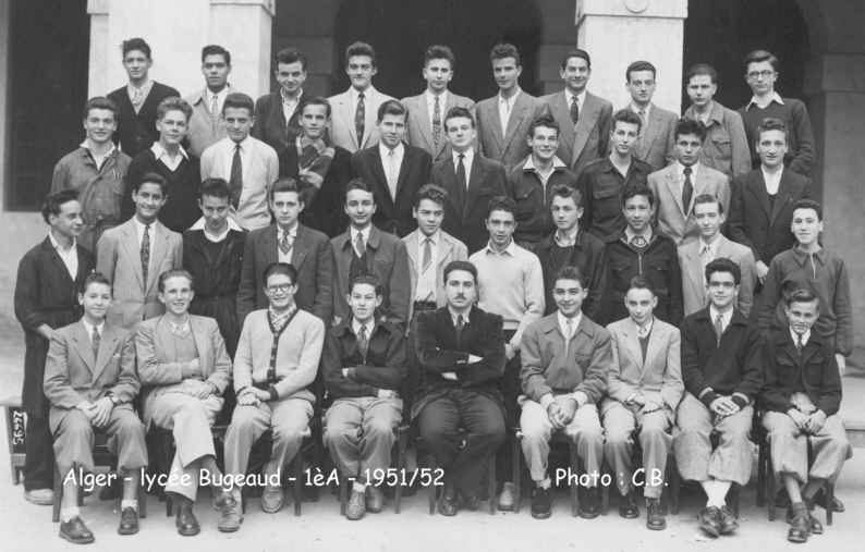 1ère A, 1951/1952, professeur: mr.Fohr